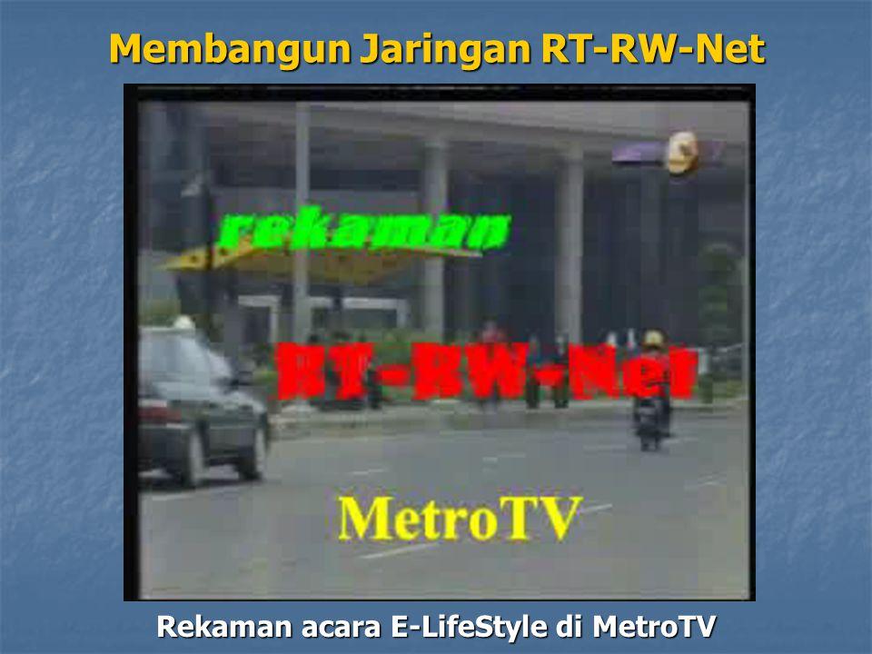 Rekaman acara E-LifeStyle di MetroTV