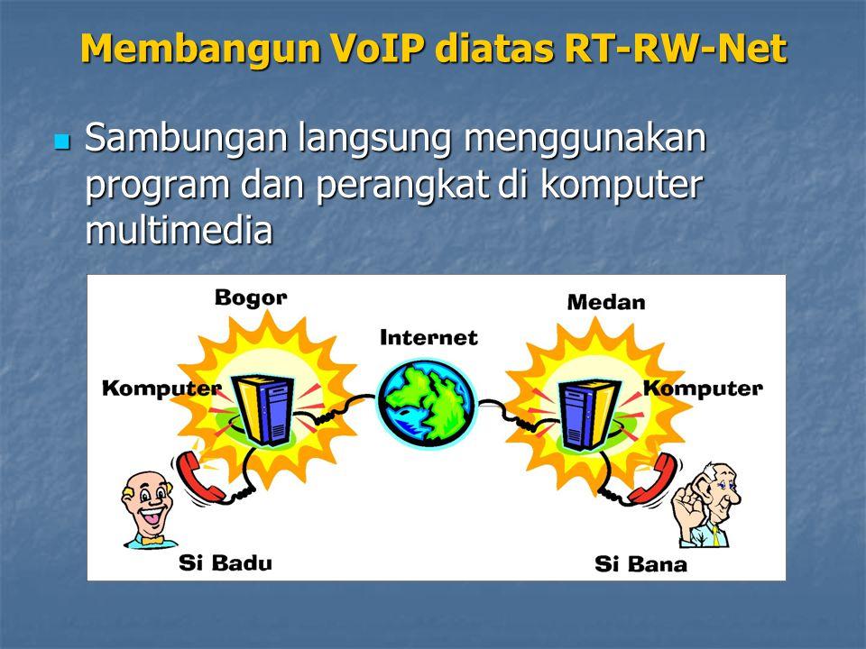 Sambungan langsung menggunakan program dan perangkat di komputer multimedia Sambungan langsung menggunakan program dan perangkat di komputer multimedia Membangun VoIP diatas RT-RW-Net