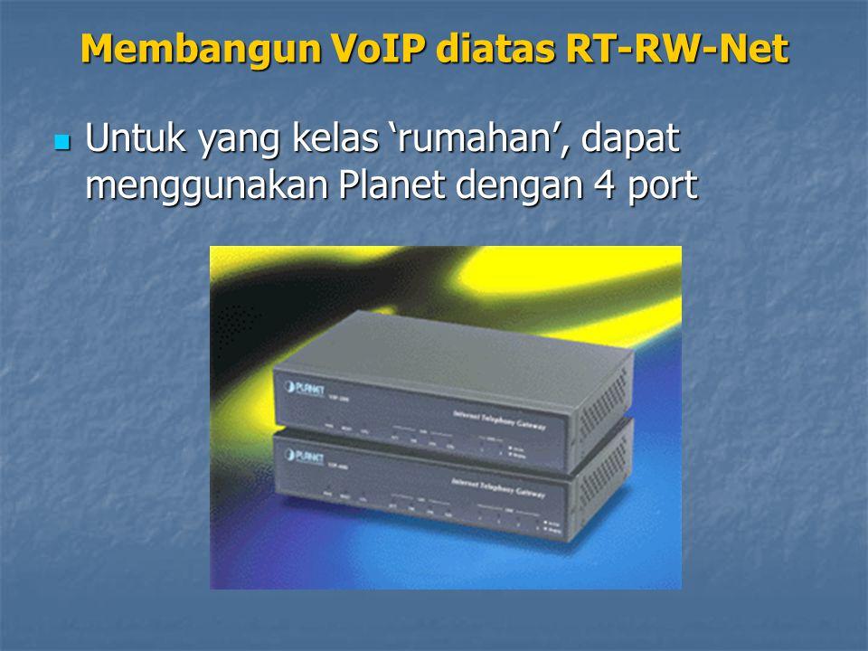 Untuk yang kelas 'rumahan', dapat menggunakan Planet dengan 4 port Untuk yang kelas 'rumahan', dapat menggunakan Planet dengan 4 port Membangun VoIP d