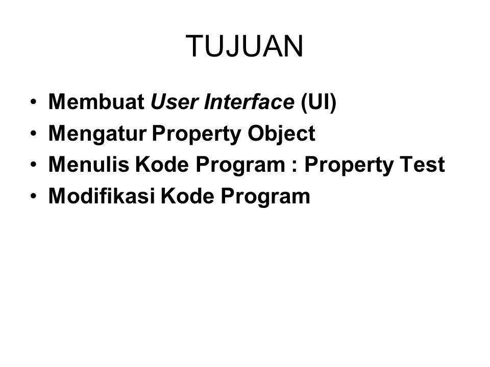Modifikasi Kode Program Ubah tampilan UI-nya menjadi seperti ini : (Tambahkan komponen Frame, OptionButton dan CheckBox) Atur property object-object tambahannya sebagai berikut :