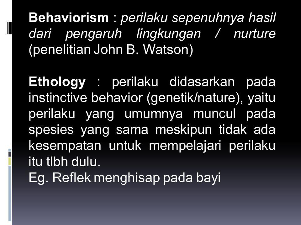  Masalah yang timbul dari cara berpikir dikotomi  Berpikir dikotomi mengenai perilaku yang disebabkan oleh faktor psikologis atau fisiologis.
