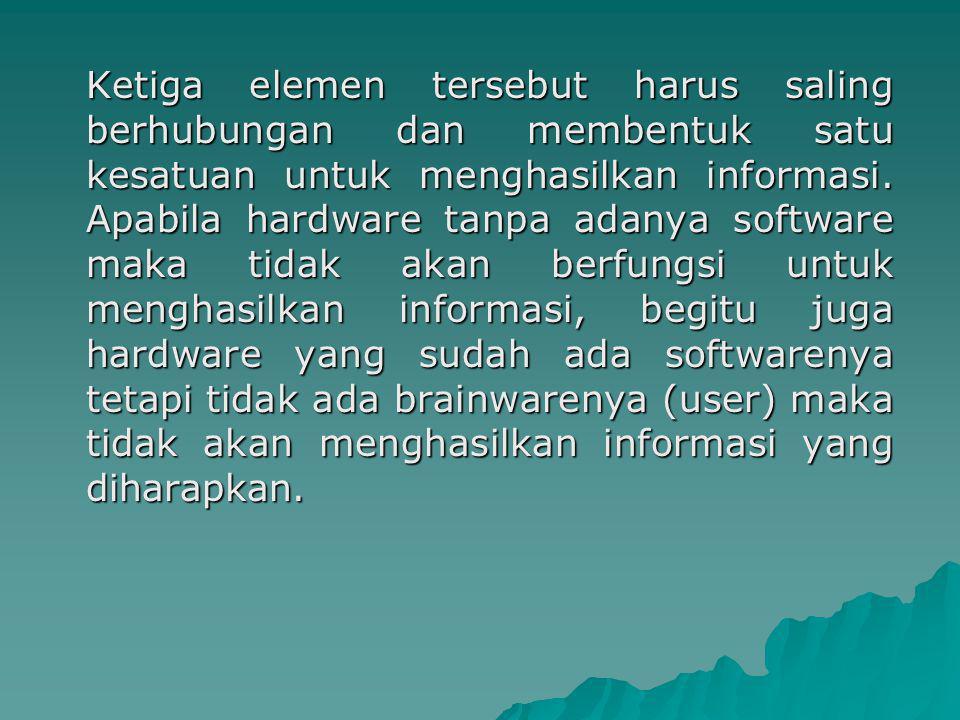 Dalam pemrosesan pengolahan data terdiri dari 3 tahap dasar, yang lebih dikenal dengan siklus pengolahan data (data processing cycle) yaitu input, processing dan output.