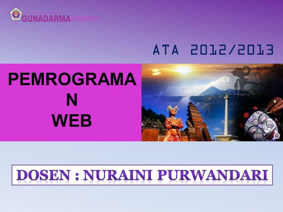 PEMROGRAMA N WEB ATA 2012/2013