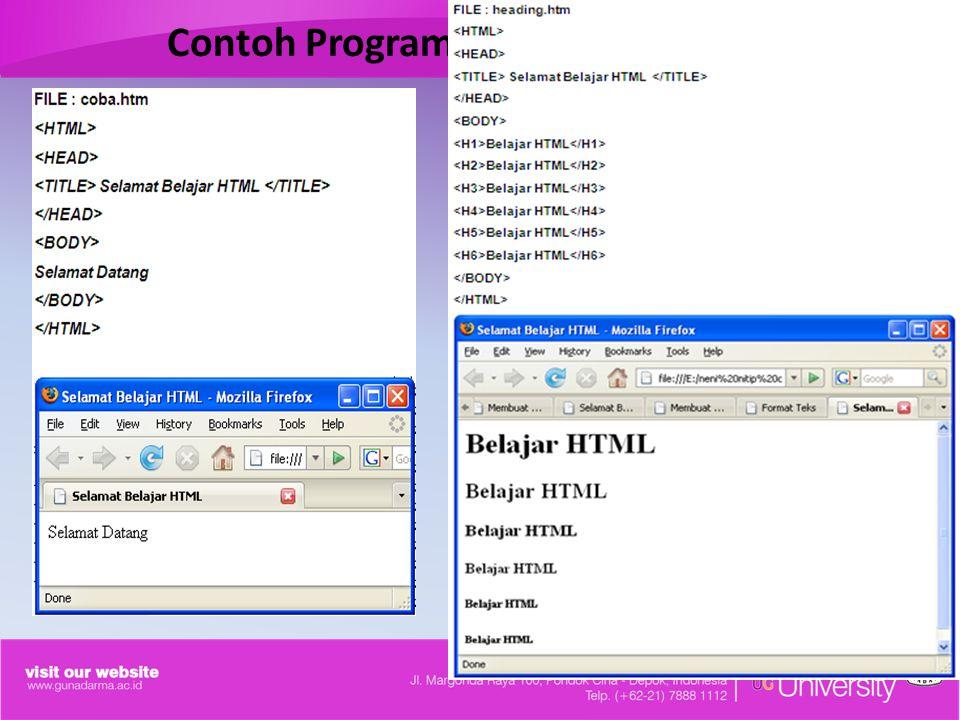 Contoh Program HTML