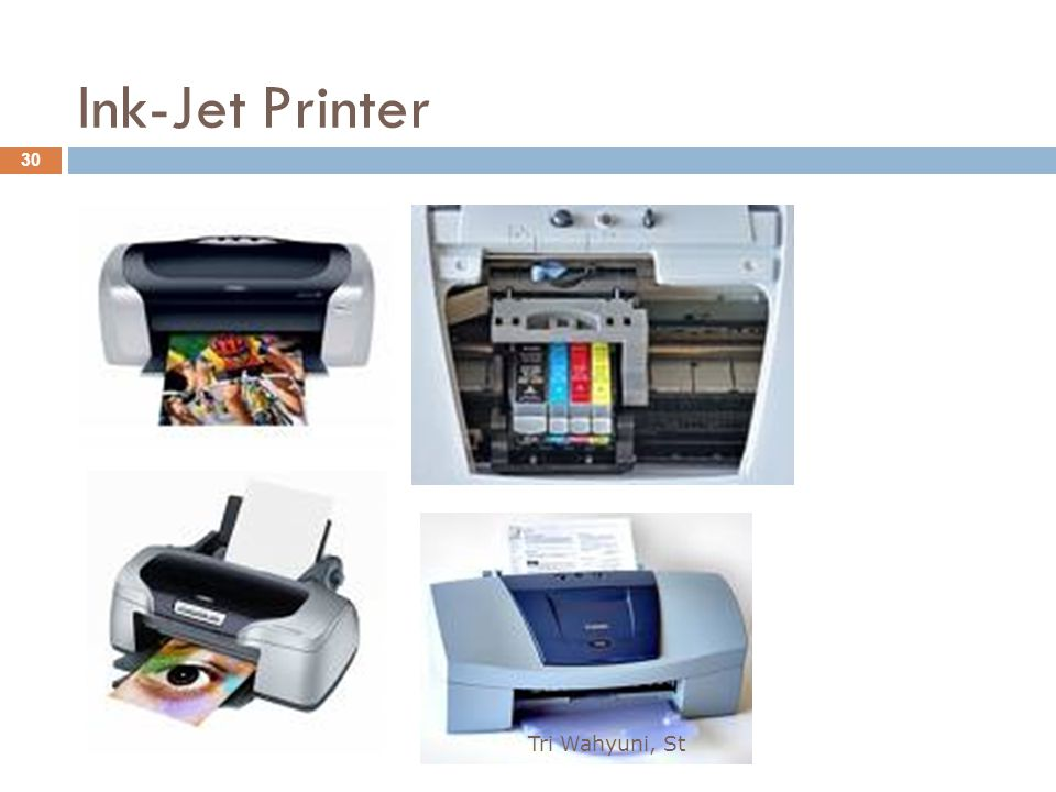 Ink-Jet Printer Tri Wahyuni, St 30
