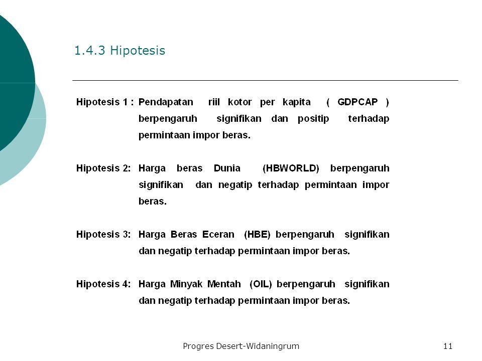 Progres Desert-Widaningrum11 1.4.3 Hipotesis