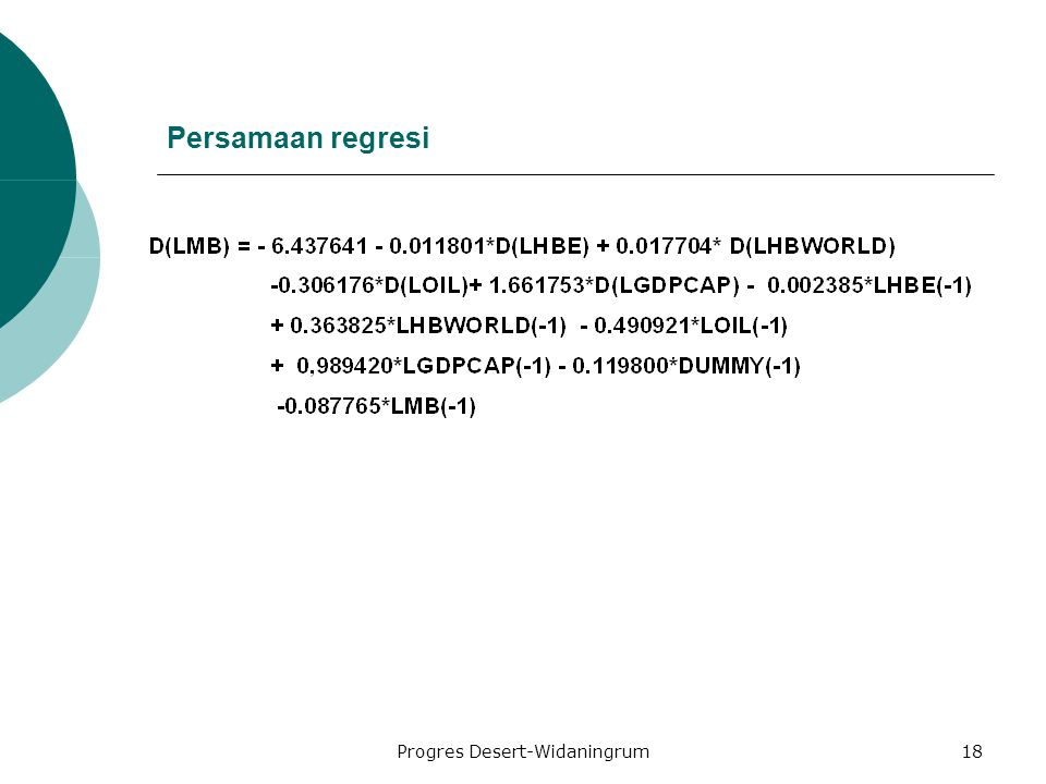 Progres Desert-Widaningrum18 Persamaan regresi