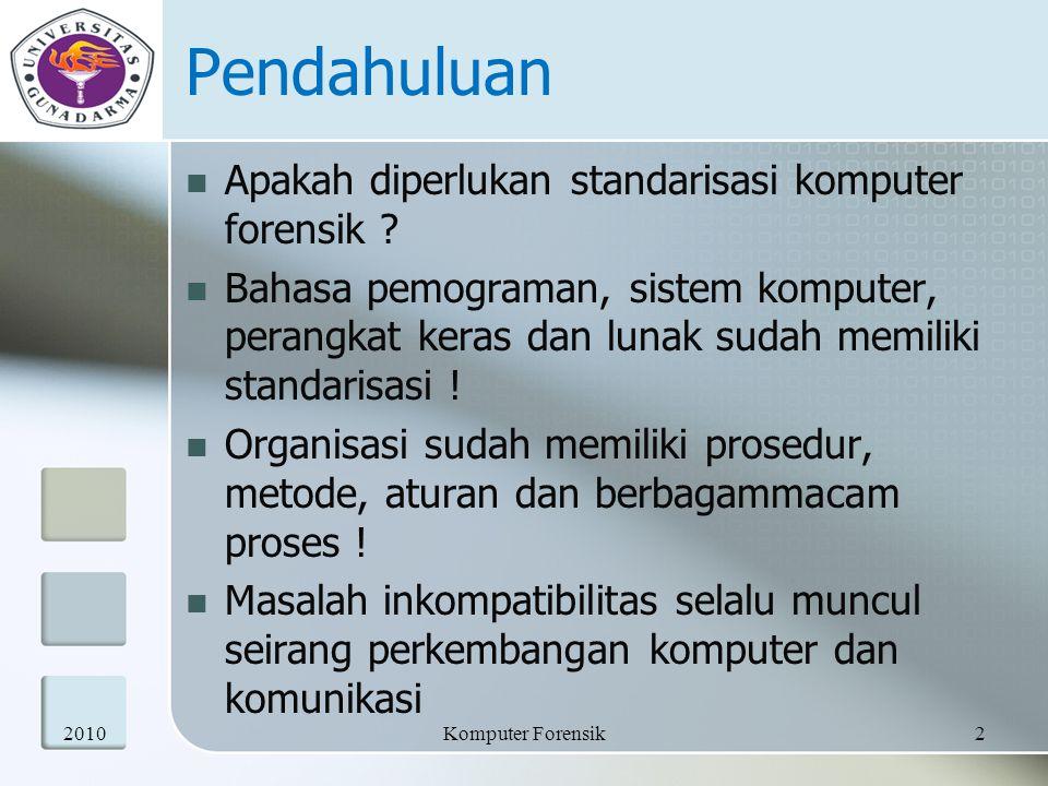 Pendahuluan Kebutuhan akan standarisasi di level manapun, sudah menjadi kebutuhan.