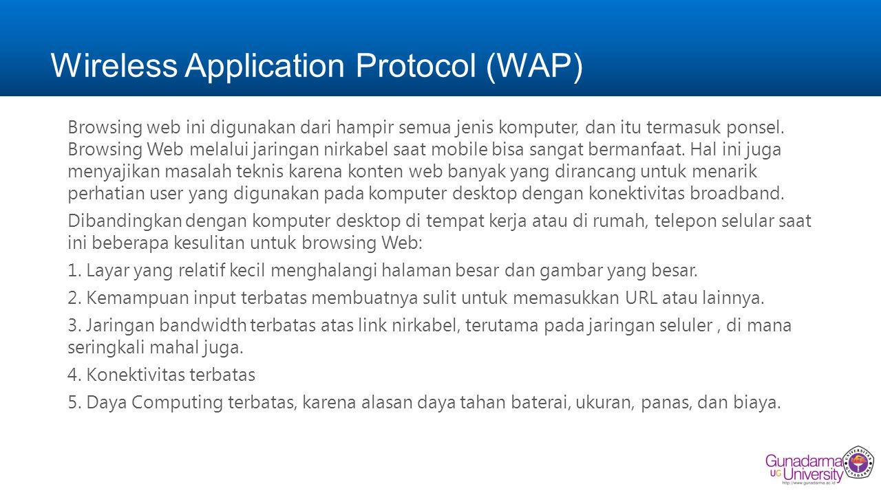Wireless Application Protocol (WAP) Browsing web ini digunakan dari hampir semua jenis komputer, dan itu termasuk ponsel.
