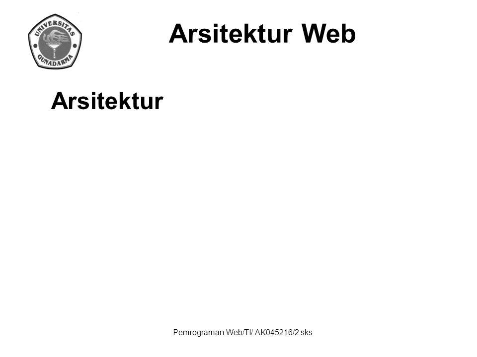 Pemrograman Web/TI/ AK045216/2 sks HTTP HTTP (HyperText Transfer Protocol) adalah protokol yang dipergunakan untuk mentransfer dokumen dalam World Wide Web (WWW).