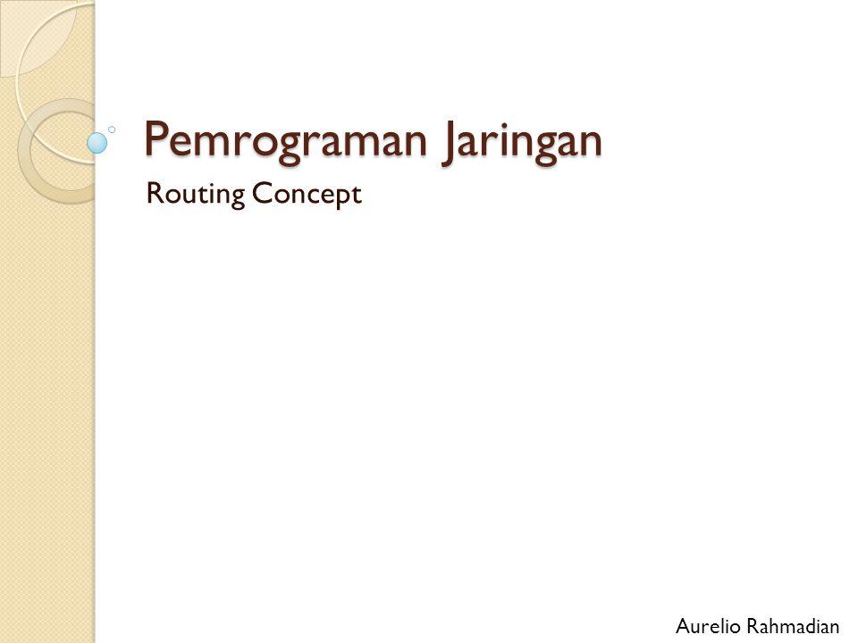 Pemrograman Jaringan Routing Concept Aurelio Rahmadian