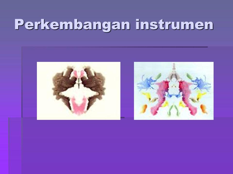 Perkembangan instrumen