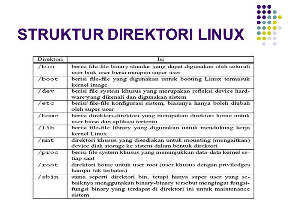 PERINTAH DASAR LINUX Perintah cp Perintah cp identik dengan perintah 'copy' pada MS-DOS.