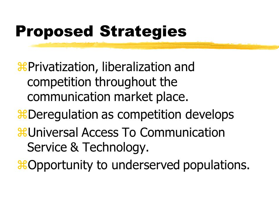 Proposed Strategies
