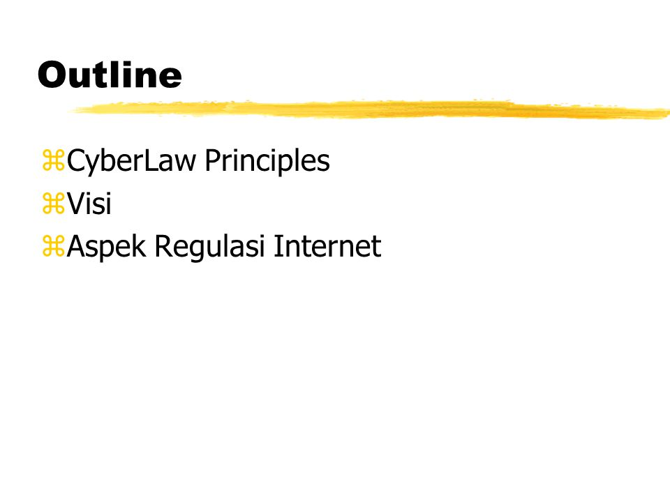 Framework Regulasi Internet Onno W. Purbo Bobby Nazief Sanjaya Setijadi