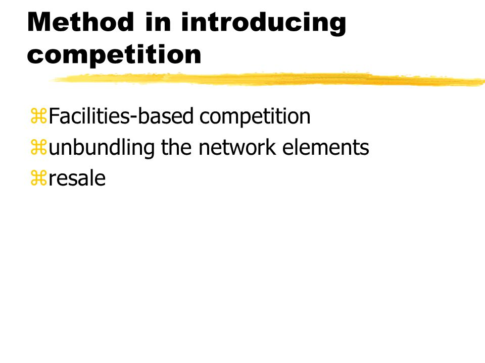 Competitor will want..zClear terms and conditions and fair prices for interconnection.