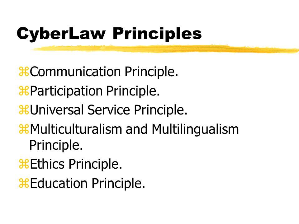 Outline zCyberLaw Principles zVisi zAspek Regulasi Internet