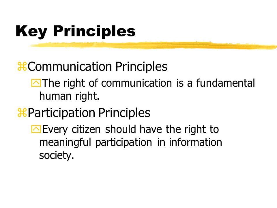 CyberLaw Principles Con't zFree Expression Principle.