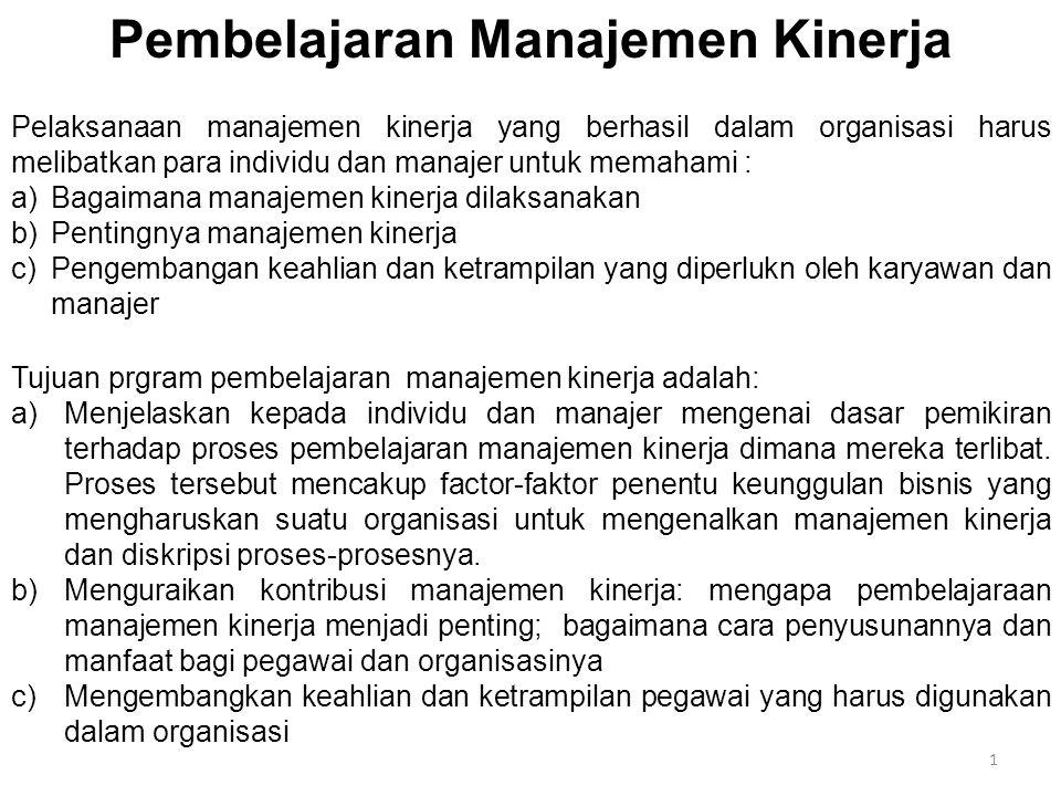 2 A.Dasar Pemikiran Manajemen Kinerja a)Manajemen kinerja dianggap berkaitan dengan:  Kelalaian (itu bukan urusan saya),  Kecurigaan (buang-buang waktu saja),  Kesinisan (kami sudah tahu itu semua) atau permusuhan (itu tidak akan berhasil).