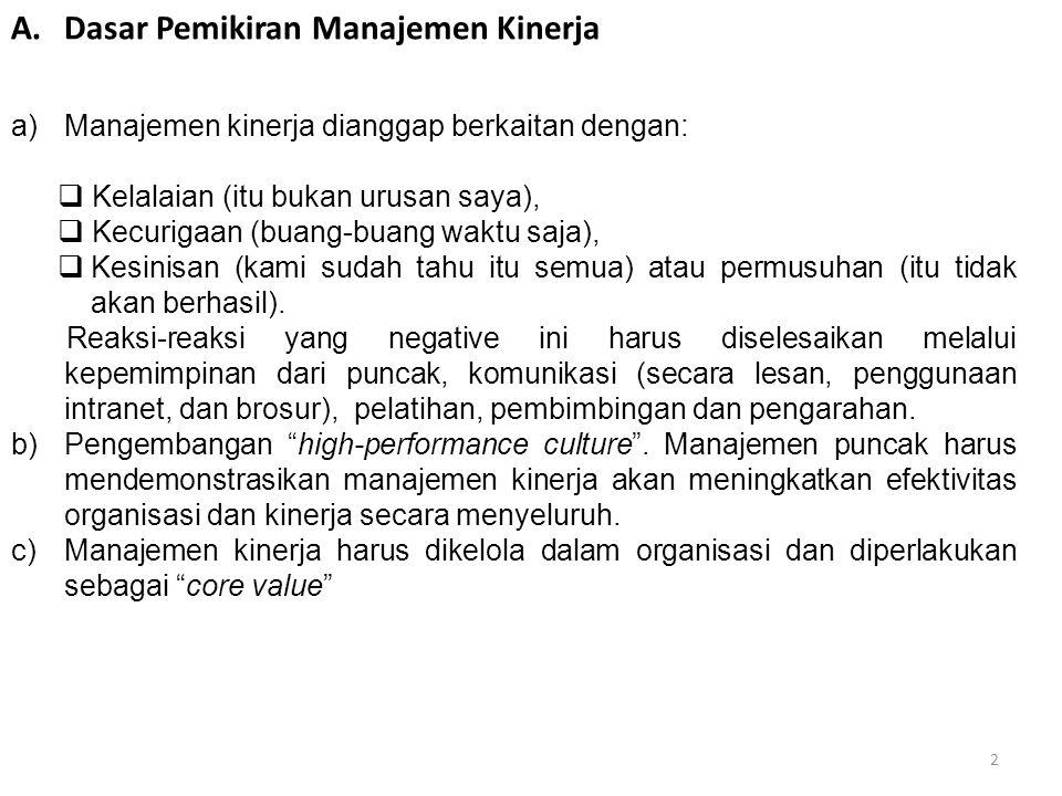 3 Manajemen kinerja bukan merupakan kegiatan yang mudah.