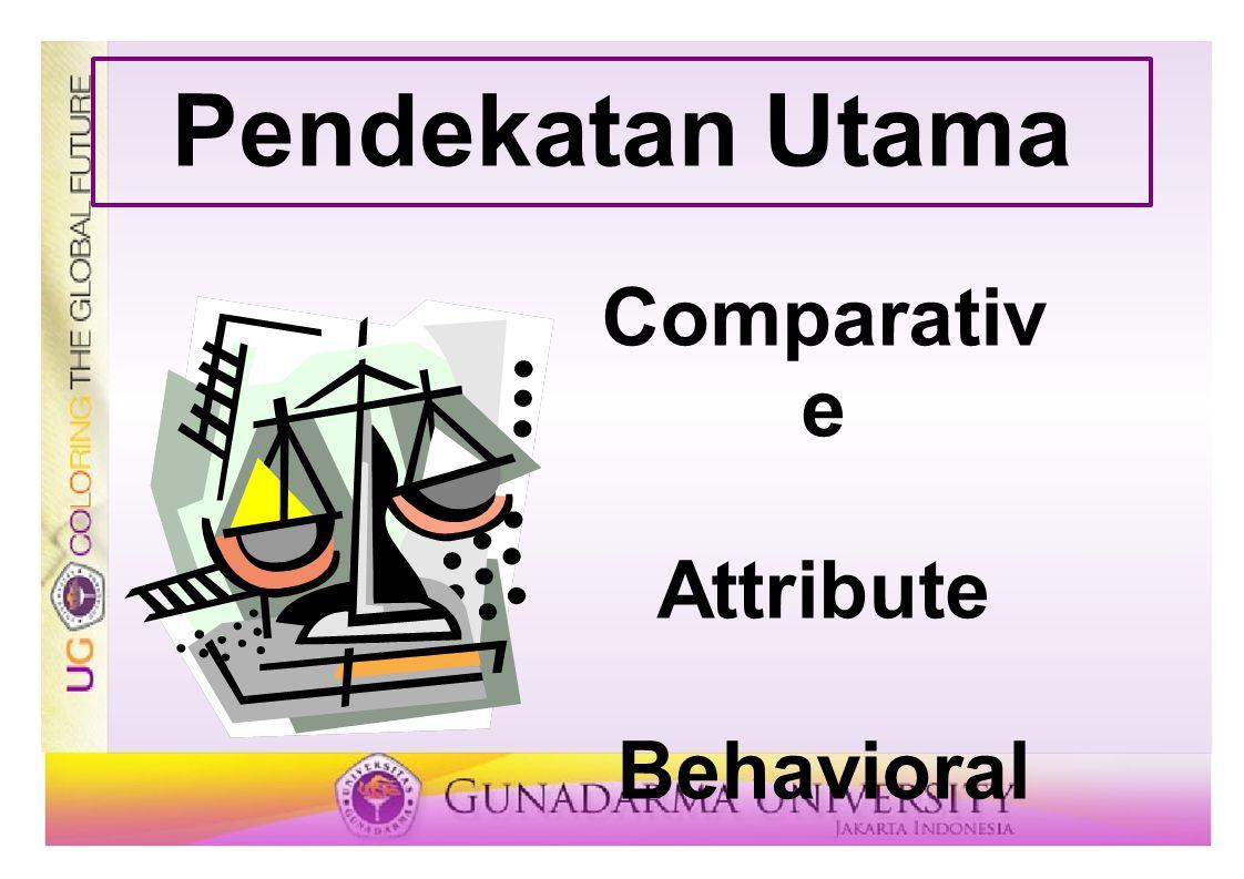 Pendekatan Utama Comparativ e Attribute Behavioral