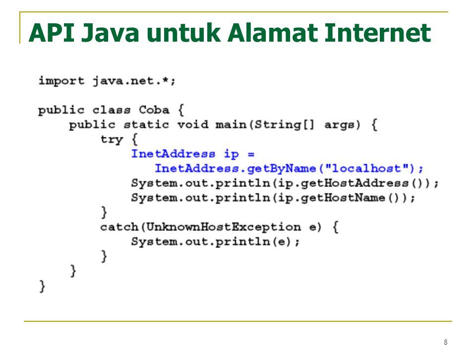 8 API Java untuk Alamat Internet