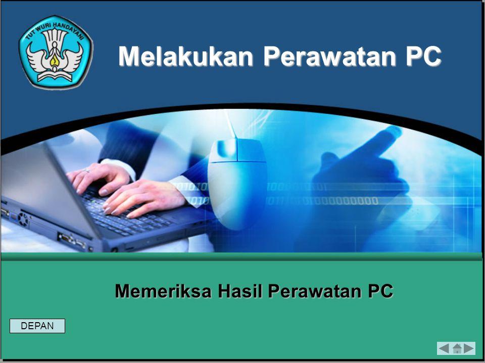 Modul 6Melakukan Perawatan PC Evaluasi 2 Tugas 2 1) Sebutkan langkah-langkah atau prosedur perawatan komponen PC berikut ini : Hard disk, CPU, Memory,