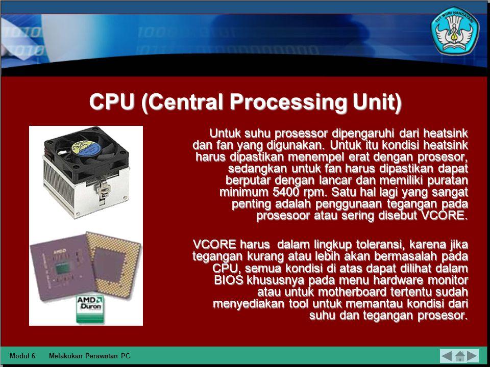 Memori Untuk memastikan RAM terpasang dengan benar pastikan tidak adanya bunyi 1,2,dan 3 beep untuk AMI bios, 1-4-1, 14-2, atau 2 beep untuk bios phoenix.