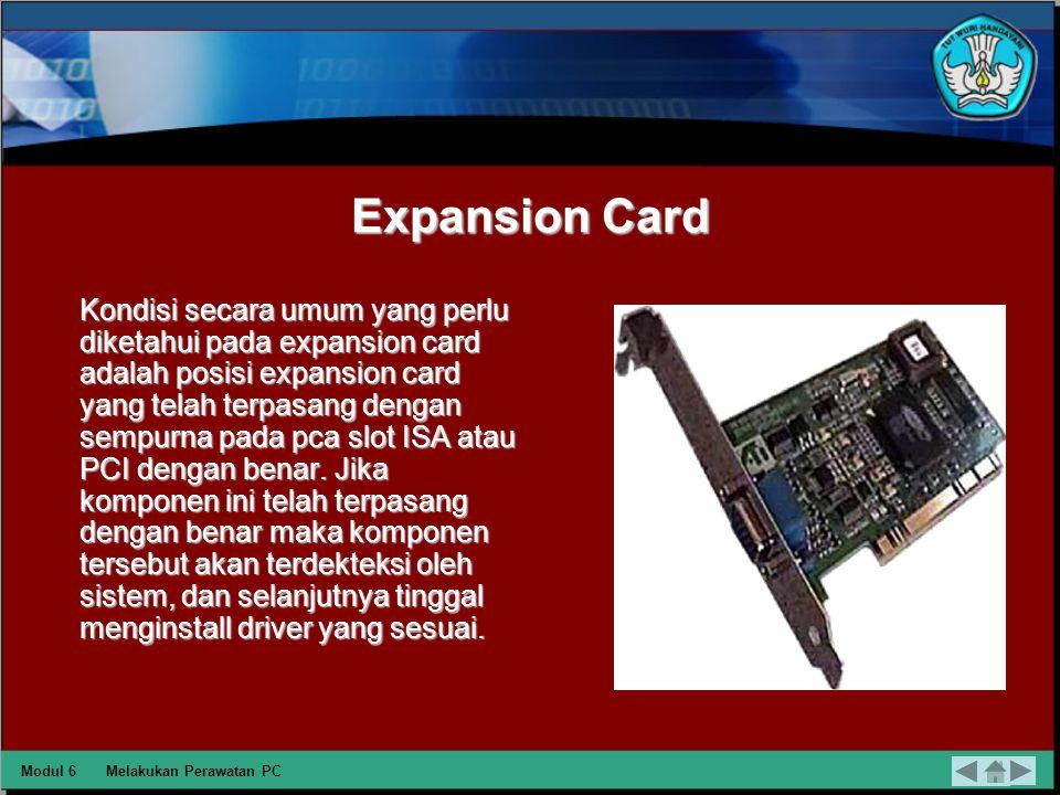 Motherboard Kondisi yang perlu diperhatikan dalam motherboard adalah suhu dan fungsionalitas sistem itu sendiri.