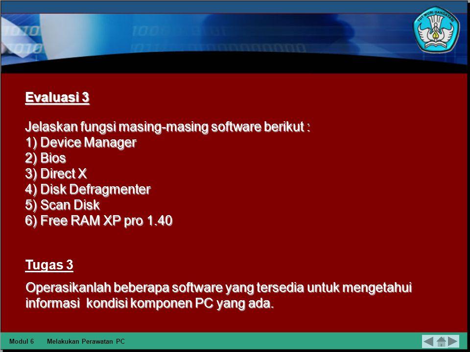 Free RAM XP pro 1.40 Free RAM XP pro 1.40 merupakan freeware, tool ini digunakan untuk memonitor pengunaan dari resource dari RAM, CPU, virtual memory, penggunaan memory secara menyeluruh dalam sistem, dan lama uptime sebuah komputer.