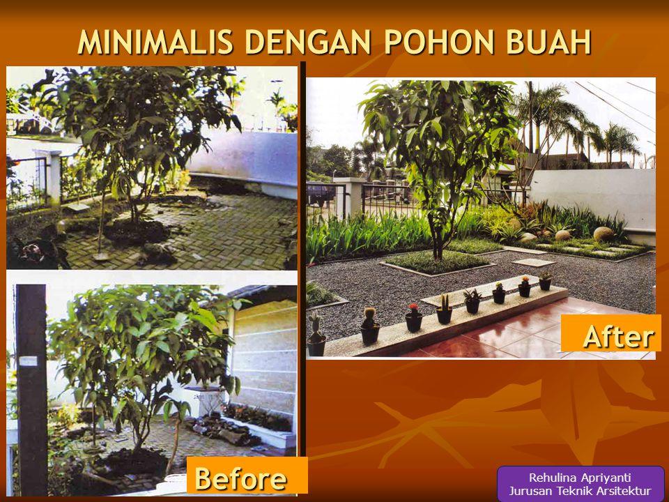 MINIMALIS DENGAN POHON BUAH After Before Rehulina Apriyanti Jurusan Teknik Arsitektur