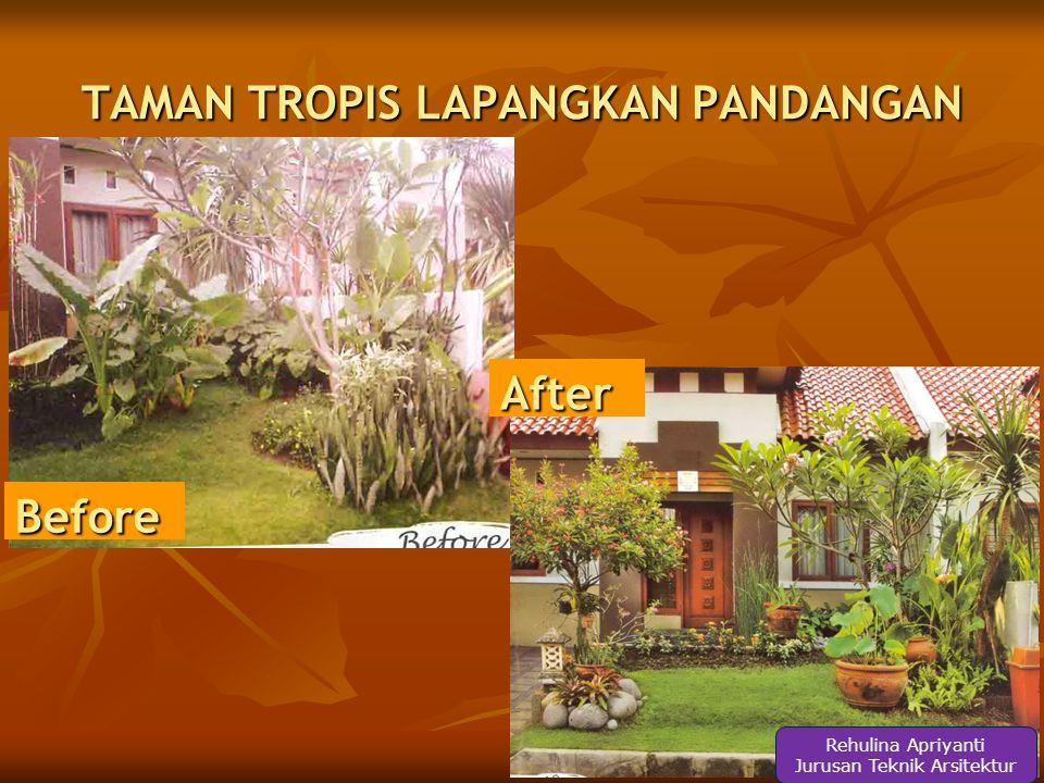 After Before TAMAN INDOOR CIPTAKAN FOKUS Rehulina Apriyanti Jurusan Teknik Arsitektur
