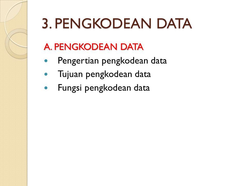 3.PENGKODEAN DATA B.