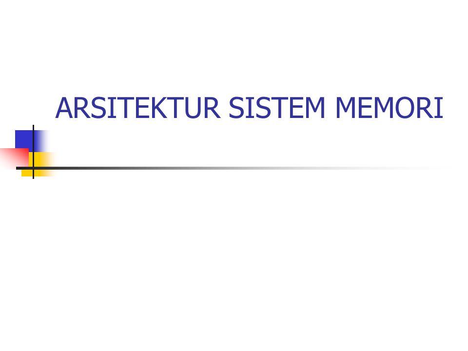IMPLEMENTASI MEMORI UTAMA 1.