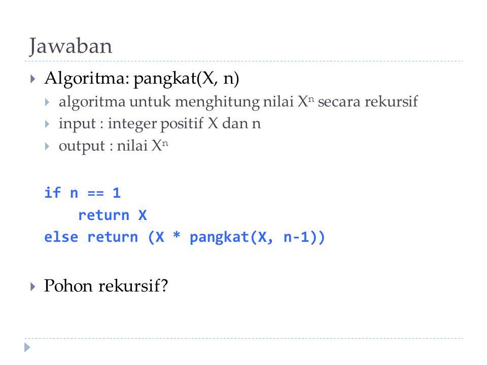 ToH: Analysis (3)  Initial condition, n=1  i=n-1: M(n) = 2 i M(n-i) + 2 i - 1 = 2 (n-1) M(n-(n-1)) + 2 (n-1) -1 = 2 (n-1) M(1) + 2 (n-1) - 1 = 2 (n-1) + 2 (n-1) - 1 = 2 n - 1  Exponential algorithm.