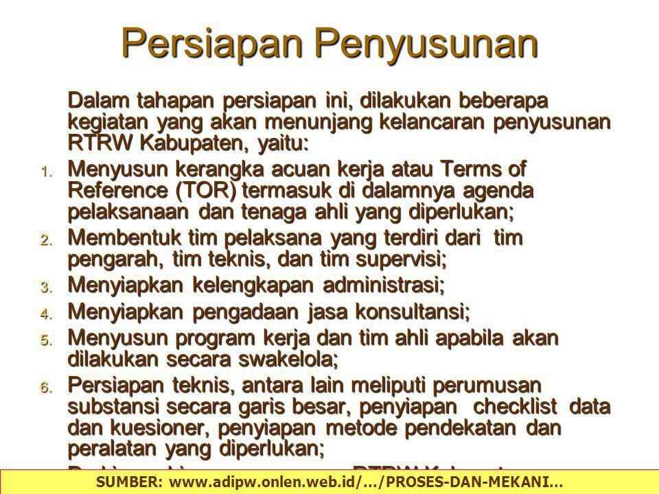 Peninjauan Kembali RTRW Kabupaten Sebelumnya 1.Kelengkapan data; 2.