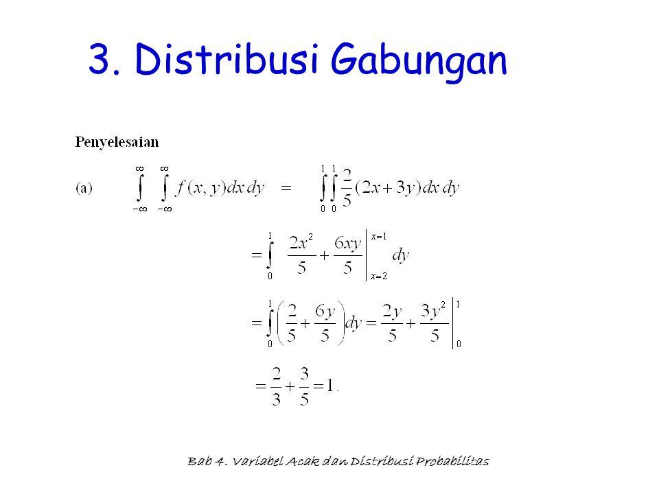 Bab 4. Variabel Acak dan Distribusi Probabilitas 3. Distribusi Gabungan