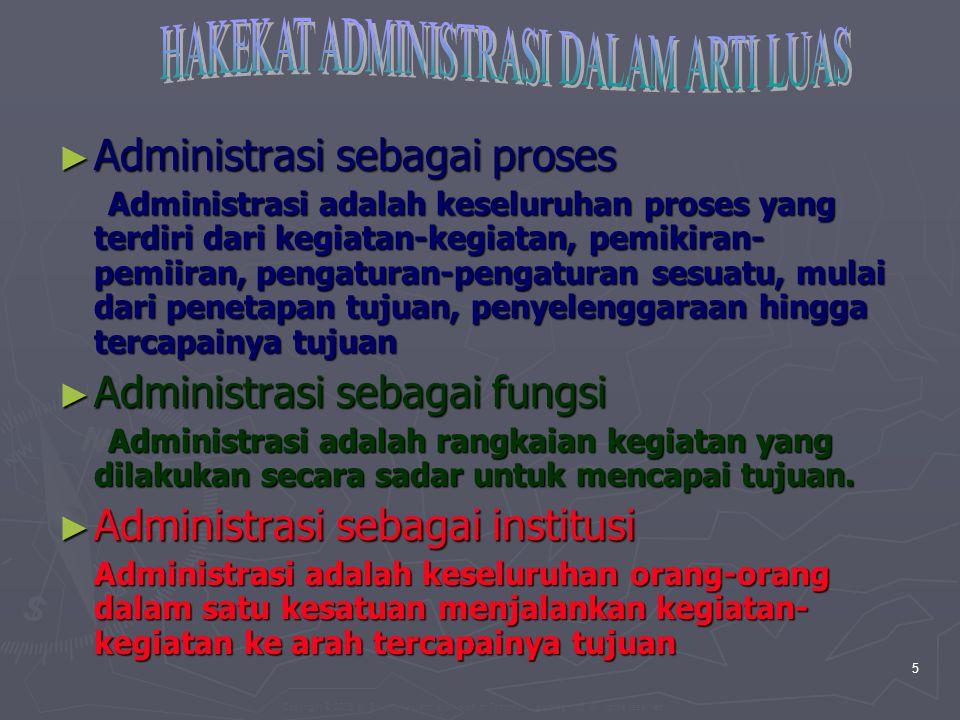 Copyright © 2005 by South-Western, a division of Thomson Learning, Inc. All rights reserved. 5 ► Administrasi sebagai proses Administrasi adalah kesel