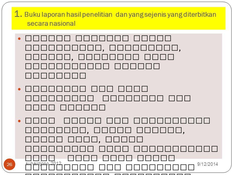9/12/2014 suhardjono 2012 25 Bila sudah jelas dapat diusulka n sebagai berikut ( diusulkan termuat pada Juknis dan dibuatkan pedoman )