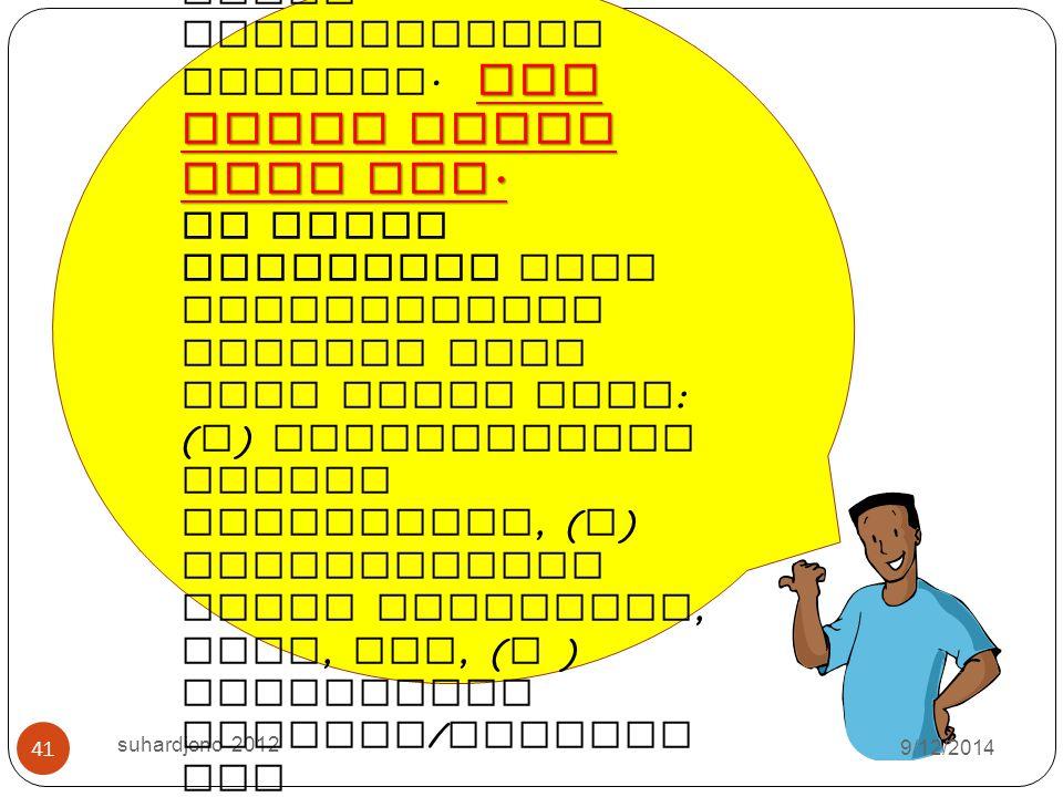 9/12/2014 suhardjono 2012 40 Jumlah guru Pembagian angka kredit Penulis utama Penulis pembantu I Penulis pembantu II Penulis pembantu III 2 orang 60%4