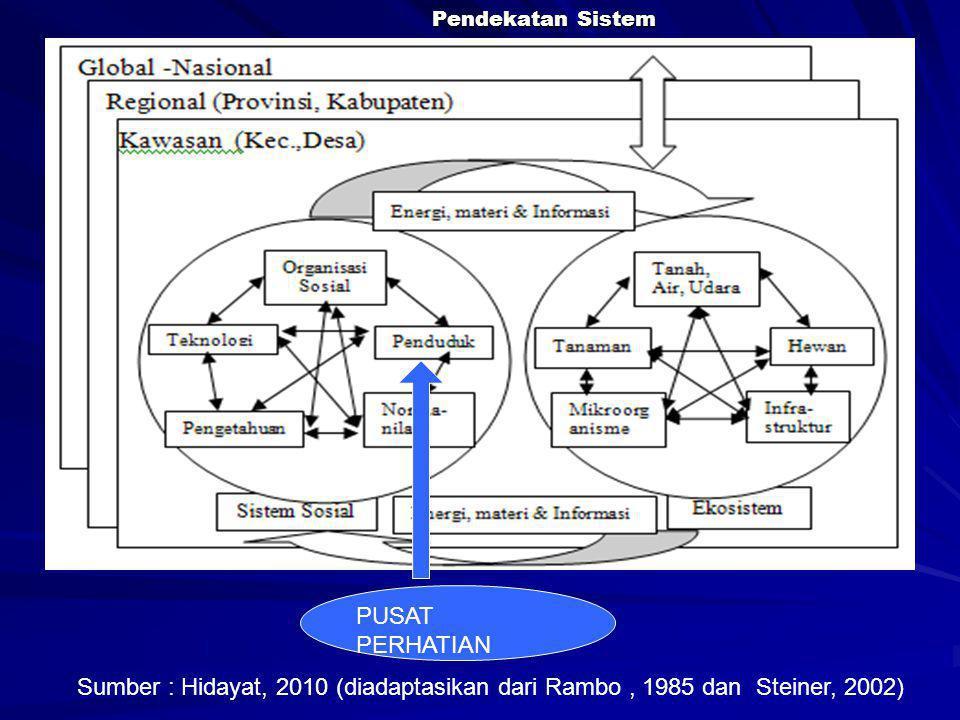 Pendekatan Sistem Sumber : Hidayat, 2010 (diadaptasikan dari Rambo, 1985 dan Steiner, 2002) PUSAT PERHATIAN