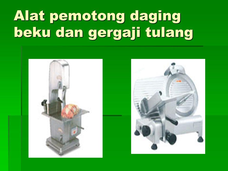 Alat pemotong daging beku dan gergaji tulang