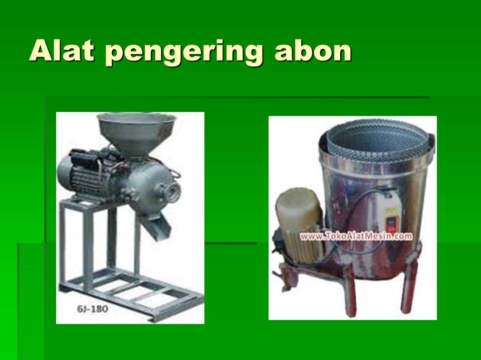 Alat pengering abon
