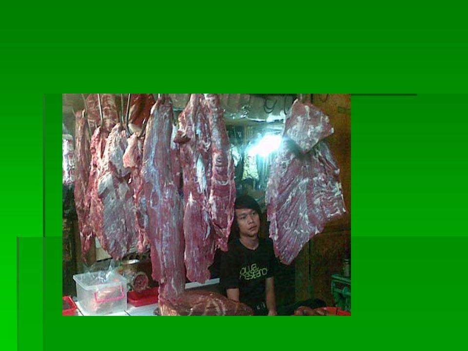 8 kiat bisnis daging segar 1.Menentukan produk daging utama yaitu daging dalam 4 kategori besar : - Bagian daging paha belakang (topside, Knuckle, Silverside, Rump Knuckle, Silverside, Rump - Kelompok punggung, Cube roll, sirloin, tenderloin - kelompok bahu, blade, chuck, chucktender, shin shank - kelompok dada-perut, brisket, flank