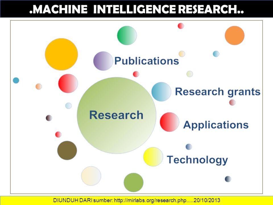 DATA DAN INFORMASI.MACHINE INTELLIGENCE RESEARCH..