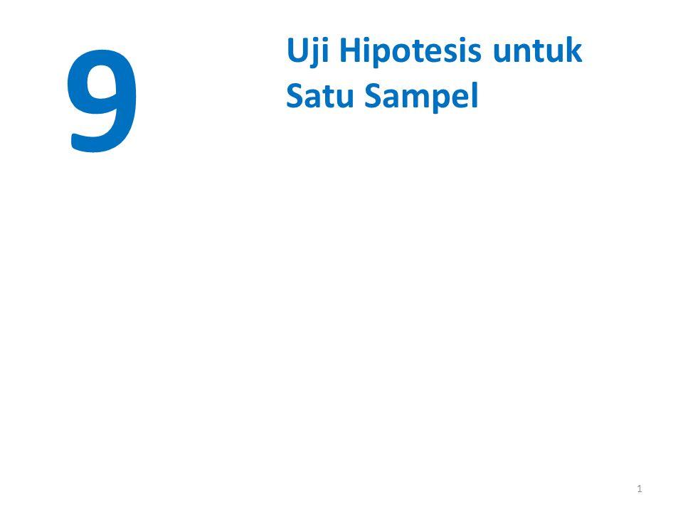 1 9 Uji Hipotesis untuk Satu Sampel