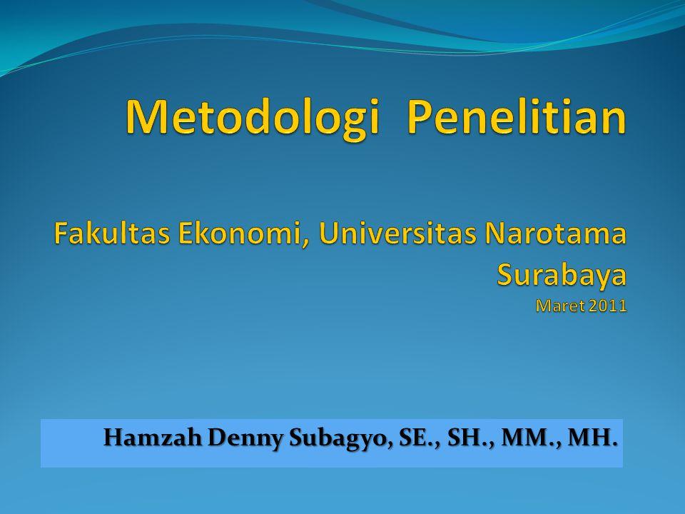 Hamzah Denny Subagyo, SE., SH., MM., MH.