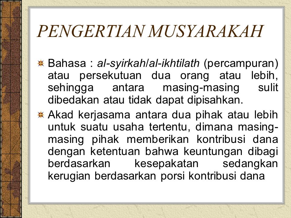 Syirkah Al 'uqud (kontrak), 1.