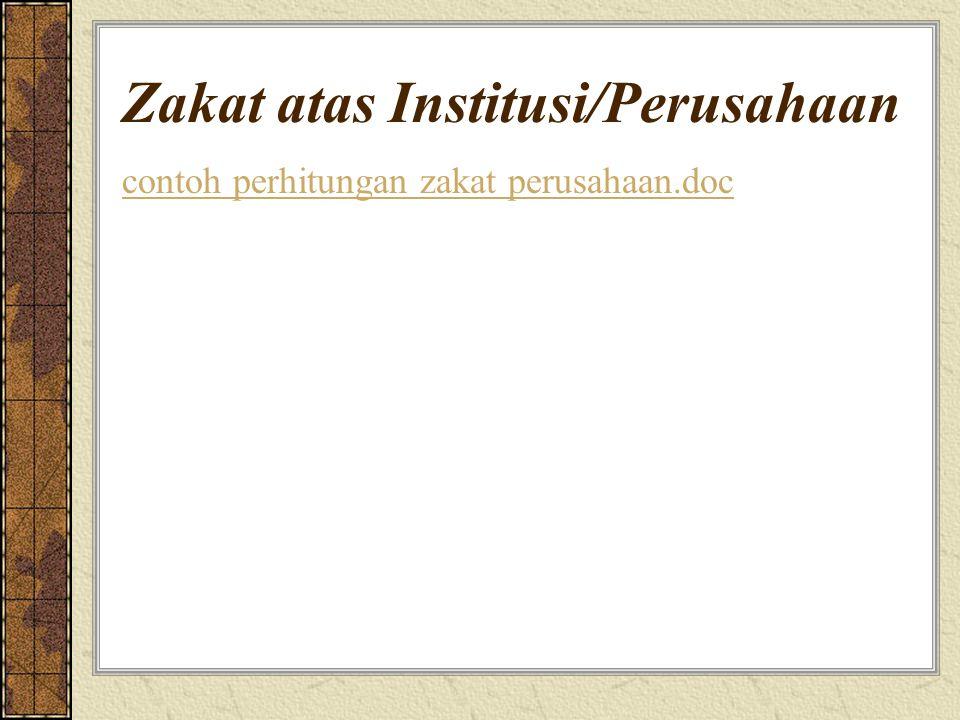 Zakat atas Institusi/Perusahaan contoh perhitungan zakat perusahaan.doc
