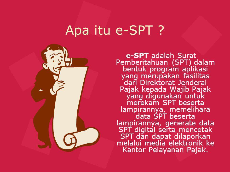 Jenis – jenis e-SPT .